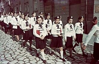 Girl - School girls in 1939, in Győr, Hungary