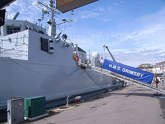 HMS Grimsby (M108) - Berthed in Weymouth in June 2008