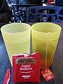 HKU 香港大學 canteen yellow plastic water cups hot water Twinings English tea bag Nov 2016 Lnvs.jpg