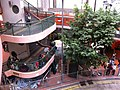 HK CWB Yee Wo Street round shape footbridge stairs visitors Jan-2013.JPG