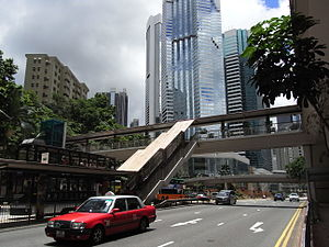 HK Wan Chai 金鐘道 Queensway view footbridge 2 Pacific Place July-2012.JPG