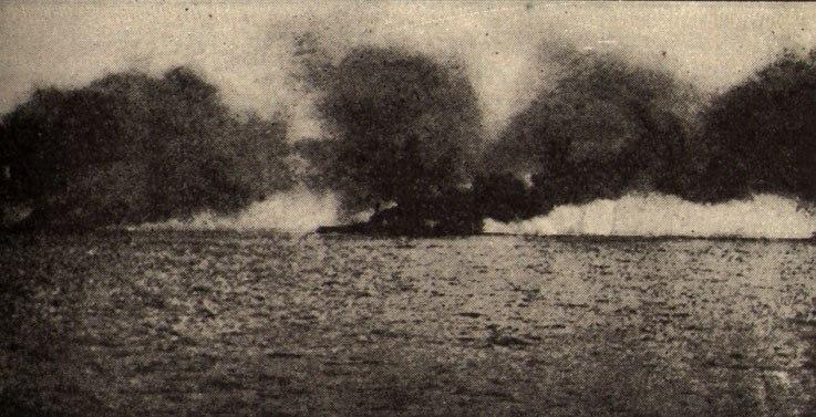 HMS Lion hit at Jutland