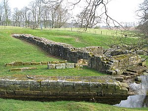 Chesters Bridge - Hadrian's Wall and Chesters bridge abutment