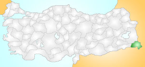 Hakkari Turkey Provinces locator