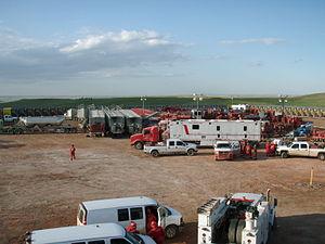 North Dakota oil boom - Halliburton preparing to frac the Bakken.