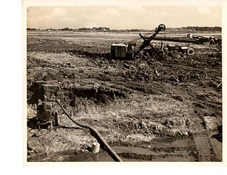 Grissom Air Reserve Base - United States Naval Reserve Aviation Base, Peru, Hanger B excavation 20 June 1942.