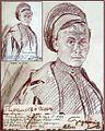 Hans Gyenis, Porträtzeichnung russ.Kgf. Iwan Paramanow, Juli 1915.jpg