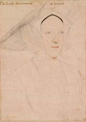 Thomas Grey, 2nd Marquess of Dorset - Margaret Grey, Marchioness of Dorset, by Hans Holbein the Younger, 1532–35