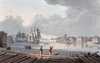 Paléet - Image: Harbour of Christiania (JW Edy plate 50)