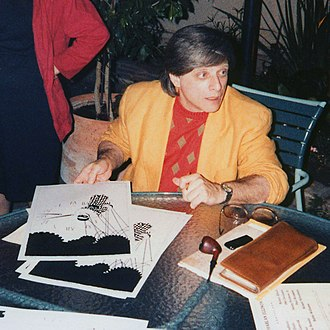 Hugo Award for Best Novelette - Image: Harlan Ellison at the LA Press Club 19860712