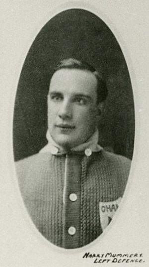 Harry Mummery - Mummery with the Toronto Arenas.