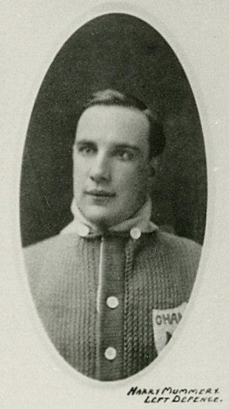 Harry Mummery - Mummery with the Toronto Arenas.