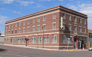 Hartington, Nebraska - The historic Hartington Hotel is among the local buildings included on the National Register of Historic Places.