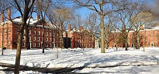 Harvard-universitetet i vinterskrud.