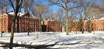 English: Harvard Yard winter 2009.