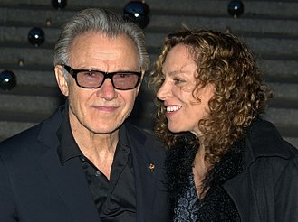 Harvey Keitel - Keitel with wife Daphna Kastner in 2010