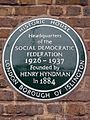 Headquarters of the Social Democratic Federation 1926-1937 founded by Henry Hyndman in 1884.jpg