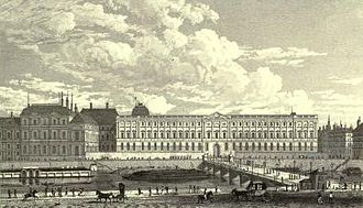 Charles Heath - View of the Louvre (1831, engraved after Pugin)