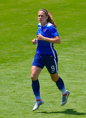 Playing for the U.S. national team in San Jose, Calif., 2015 Heather O'Reilly.jpg