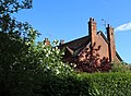 Hellmans Cross, Great Canfield, Essex, England - Green St house and viburnum opulus sterilis.JPG