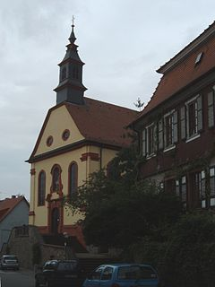 Hemsbach Place in Baden-Württemberg, Germany