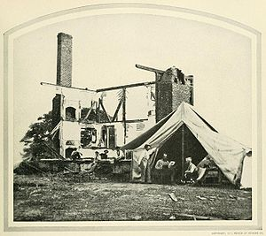Henry House Hill - The house after the First Battle of Bull Run.