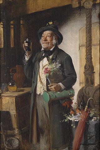 Hermann Kern: Der Botaniker (mit Botanisiertrommel), 1908