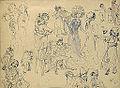 Hermans C. (attributed to) - Ink - Feuille d'étude de personnages - 35x26cm.jpg