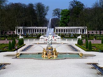 Het Loo Palace - Photograph of the gardens, restored according to Desgotz's design.