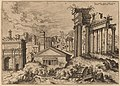 Hieronymus Cock, View of the Forum from the Base of the Capitol, probably 1550, NGA 91350.jpg