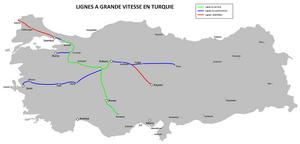 Polatlı–Konya high-speed railway - The planned Turkish high-speed rail network