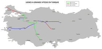 Polatlı–Konya high-speed railway - The planned Turkish high-speed rail network