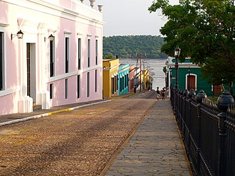 Ciudad Bolívar - A Colonial street in the city's historic district
