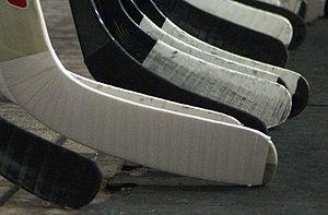Hockey tape - Hockey tape used on the blades of ice hockey sticks