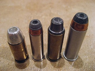 Hollow-point bullet - Various hollow points: .45 Auto, .38 Special, .44 S&W Special, .44 Remington Magnum