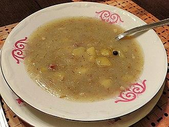 West Slavic fermented cereal soups - Image: Homemade żur