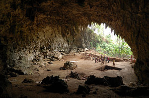 English: Cave where the remainings of ' where ...