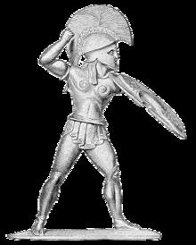 Hoplit ; en græsk bystatskriger af infanteriet