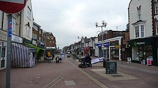 Horley town in Surrey, England