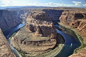 Colorado River - The Colorado River at Horseshoe Bend, Arizona, a few miles below Glen Canyon Dam