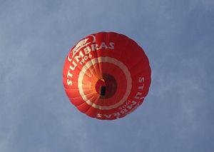 Hot air balloon in Trakai (Troki), Lithuania