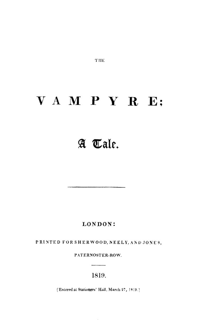 Houghton EC8.P7598.819va (A) - Vampyre, 1819