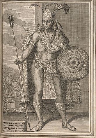 Moctezuma II - Moctezuma II, from Historia de la conquista de México by Antonio de Solis