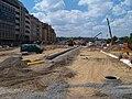Hradčanská, rekonstrukce ulice, pohled k západu, 2010-07-14.jpg