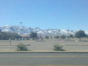 Sierra Vista, Arizona - Huachuca Mountains in the winter