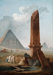 File Hubert Robert The Farandole Amidst Egyptian Monuments Google Art Project Jpg Wikimedia Commons
