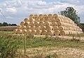 Huge stack of bales beside Westleygreen Farm - geograph.org.uk - 553461.jpg