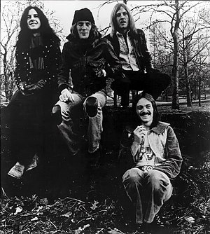 Humble Pie (band) - Humble Pie in 1974 Left to right: Jerry Shirley, Greg Ridley, Clem Clempson, Steve Marriott