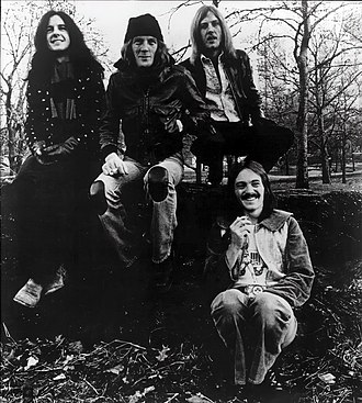 Humble Pie - Humble Pie in 1974 Left to right: Jerry Shirley, Greg Ridley, Clem Clempson, Steve Marriott