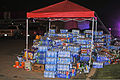 Hundreds of bottles of water await distribution at a collection point for donations in Moore, Okla., May 22, 2013, two days after an EF5 tornado with winds exceeding 200 miles per hour tore through the Oklahoma 130522-F-YU985-893.jpg
